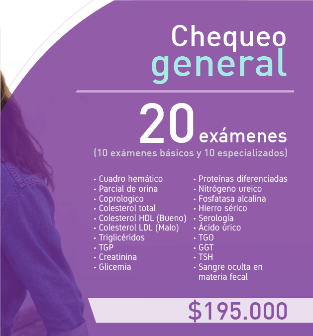 Chequeo general COLCAN